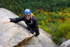 Rock Climbing on Cathedral Ledge